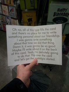 I'm ordering 100 of these! A Funny Birthday Card for When You're Not Sure What to Write
