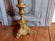 ✰✽ Antique French bronze #candle stick holder altar #candelabra church cand... Buy now! http://etsy.me/2yv1paB