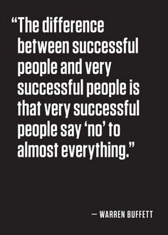The difference between successful people and very successful people