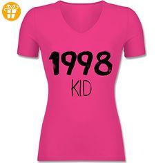 Geburtstag - 1998 KID - S - Fuchsia - F281N - Tailliertes T-Shirt mit V-Ausschnitt für Frauen - Shirts zum geburtstag (*Partner-Link)