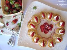 Framboises & bergamote: Couronne de choux aux fraises