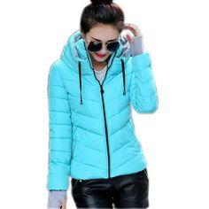 MCCKLE 2017 Winter Jacket Women Short Set Finger Parkas Jacket Ladies Slim Hooded Warm Parkas Stand Collar Coat Female Outerwear