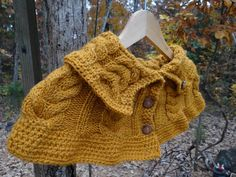 Girl Capelet Hand knitted shawl Girls Wardrobe by amezarcreations