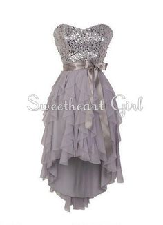 High low prom dresses, High low and Neckline on Pinterest