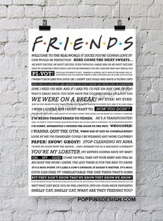 11X17 FRIENDS quote poster #friends #quotes