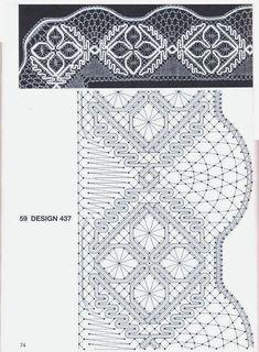 Kortelahti Eeva-Liisa - Bobbin Lace with Ribbon Gimps - 2004 - Helena Strzępa - Webové albumy programu Picasa Bobbin Lace Patterns, Bead Loom Patterns, Weaving Patterns, Jewelry Patterns, Hairpin Lace Crochet, Crochet Motif, Crochet Edgings, Crochet Shawl, Lace Earrings