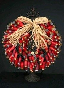Art shotgun shell wreath decor-my-world
