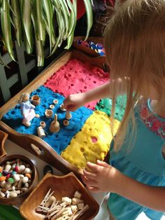 Play dough used in different ways at Puzzles Family Day Care
