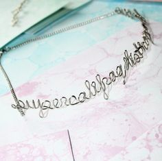 Supercalifragilisticexpialidocious Necklace  Silver by Exaltation, $38.00