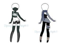 Naruto Outfit Adopts 11 (CLOSE) by SpringPeachAdopts