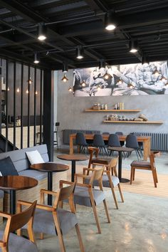 "BeanBar Café, Latitude Studio Architectural firm Latitude Studio has a view that: ""Cafés, tearooms, dry cleaners, fast food restaurants and other urban spaces are taking on roles that historically belonged to our homes, from our living and dining rooms to our kitchens, bathrooms, and storage spaces."