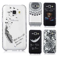 Translucent Delicate Design Back Case for Samsung Galaxy J1 2016 Cover Samsung J1 TPU Silicone Cover Case Phone Coque Hoesjes