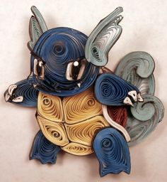 Paper Quilling Wartortle - 008 by wholedwarf on deviantART