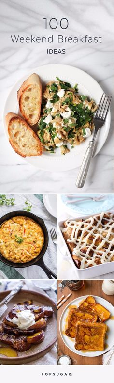 The weekend is a time to unwind and take time to make the indulgent breakfast feast you've been craving all week. From funfetti cinnamon rolls to skillet huevos rancheros, these are all the best breakfast recipes you can make over the weekend. Breakfast For A Crowd, Breakfast Bar Kitchen, Best Breakfast Recipes, Breakfast Snacks, Brunch Recipes, Breakfast Skillet, Breakfast Photography, Vegetarian, Cooking
