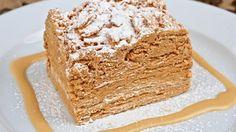 Receta de Pastel napoleón con caramelo | Cocina Familiar