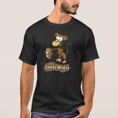 Cheeky Monkey Cartoon Design T-Shirt - animal gift ideas animals and pets diy customize