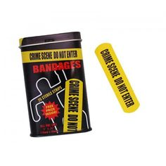 Stop your kids from crying uncontrollably with these new fun crime scene plasters. Nobody will dare to come near to the scene of the crime now that they have one of these bright yellow stickers plastered Plaster, Gifts For Kids, Crime, Scene, Fun, Plastering, Presents For Kids, Childrens Gifts, Gypsum