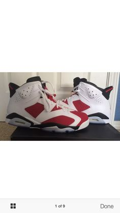 Come list sneakers for FREE! Jordan Carmine 6 size 13 #sneakerfiend #flykicks #snkrhds #instakicks #sneakerheads #shoegame #airjordan - http://sneakswap.com/buy-retro-sneakers/jordan-carmine-6-size-13/