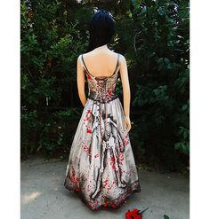 Blood Stained & Splattered Zombie Bride wedding gown halloween costume by GraveyardShift13
