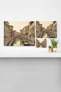 Happee Monkee Venice Waterways Art Canvas   DENY Designs Home Accessories