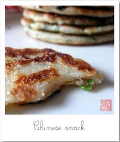 La bouche pleine: Du salé au petit déjeuner (crêpes chinoises à la ciboule)                                                                                                                                                                                 Plus
