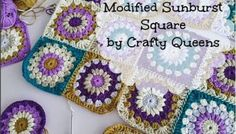 Modified Sunburst Square : The pattern!