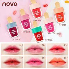 Korean Ice Cream Shaped Matte Liquid Lip Gloss Cosmetics Makeup Long Lasting LQ Long Lasting Matte Lipstick, Long Lasting Makeup, Gloss Lipstick, Liquid Lipstick, Lipstick Colors, Lipsticks, Makeup Eyeshadow, Makeup Cosmetics, Rimmel Makeup