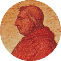 213.- Inocencio VIII (1484-1492)  Nació en Génova. Elegido el 12.IX.1484, murió el 25.VII.1492. Concluyó la obra de pacificación entre los estados católicos. Castigó inexorablemente el mercado de los esclavos y ayudó a Cristóbal Colón en el descubrimiento de América.