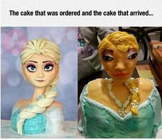 The cake that was ordered and the cake that arrived