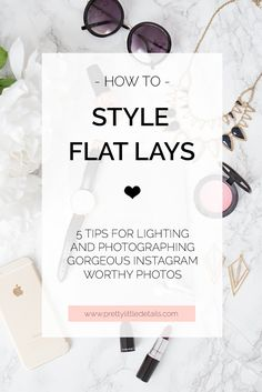 Feb 2020 - How to style and photograph amazing flay lay photos in 5 easy steps. Tips for the best flat lay lighting, backdrops and props (including my favourite flat lay background paper! Clothing Photography, Jewelry Photography, Photography Tutorials, Digital Photography, Photography Tips, Fashion Photography, Product Photography, Flat Lay Photography Instagram, Photography Classes