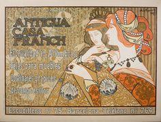 RIQUER E YNGLADA, Alexandre de (1856-1920). 'Antigua Casa Franch', cartel Barcelona, 1899. Litografía en color sobre papel, 66 x 89 cm. (Fuente: Museu Nacional d'Art de Catalunya)