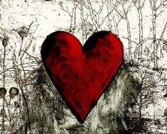 New Pop Art Painting Lesson Jim Dine Ideas Jim Dine, Kindergarten Art Lessons, Heart Painting, Painting Art, I Love Heart, Painting Lessons, Heart Art, Heart Collage, Art Plastique
