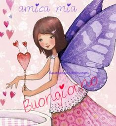 Fairy close up Artist Illustration by Mila Marquis Unicorn And Fairies, Italian Memes, Angel Cards, Painting For Kids, Children Painting, Whimsical Art, Cute Illustration, Faeries, Cute Art