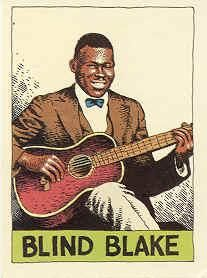 Blind Blake - label nr 4 - Heroes of the Blues by R. Crumb - http://www.celticguitarmusic.com/crumb.htm