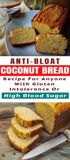 Anti-Bloat Coconut Bread Recipe For Anyone With Gluten Intolerance Or High Blood Sugar - daily health info Dairy Free Recipes Healthy, Dairy Free Low Carb, Foods With Gluten, Low Carb Recipes, Coconut Flour Bread, Coconut Flour Recipes, Healthy Coconut Bread Recipe, Anti Bloating, Dairy Free Cookies