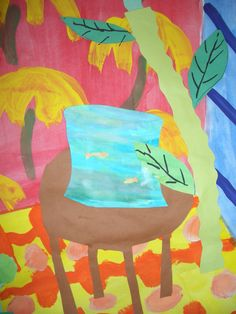 Henri Matisse Fishbowl Mixed Media Collage | Henri Matisse Art Projects | This idea would work well for 3rd grade and up.
