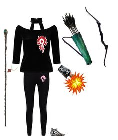 """""""World Of Warcraft Horde."""" by sofia-nagy on Polyvore featuring Boohoo, Miss Selfridge, Bianca Pratt, Bow & Arrow, Lust For Life, Game, WorldofWarcraft and horde"""