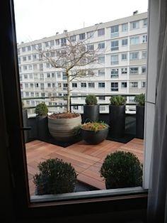 Terrasse balcon en caillebotis