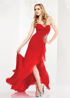 red evening gown...