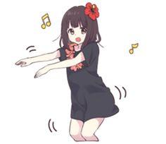 Menhera-chan.5 | Yabe-LINE貼圖代購 | 台灣No.1,最便宜高效率的代購網 Dibujos Anime Chibi, Cute Anime Chibi, Me Anime, Cute Anime Pics, Anime Neko, Kawaii Anime Girl, Anime Art Girl, Manga Girl, Otaku Anime
