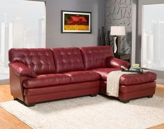 Brooks 2Pcs Recliner Sectional Sofa 9739REDRelaxation is serious business. Serious comfort is what the Brooks Collection offers in this substantially sized upholstered seating group. Channel-tufting covers the pillow arms, overstuffed cushions and is offered in either dark brown or red bonded leather – or our new chocolate brown textured plush microfiber option. The unique feature of this collection is the wide chaise that extends from the sectional sofa. The coordinating ottoman tucks…