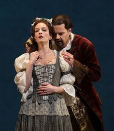 Peter Mattei in the title role and Kate Lindsey as Zerlina in Mozart's Don Giovanni Photograph: Marty Sohl/Metropolitan Opera
