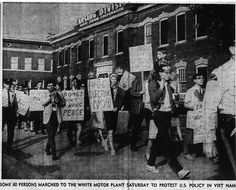 50 years ago this month, the production of war vehicles for use in Vietnam was protested in Lansing LSJ 10/17/1965