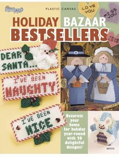 Free Plastic Canvas Projects | Holiday Bazaar Bestsellers 20 Plastic Canvas Projects | eBay