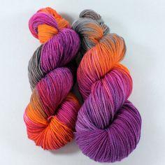 Beautiful Hand Dyed Sock Yarn  SW Sock 80/20  Superwash by SpunRightRound, $24.00