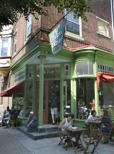 Green Line Cafe - 43rd and Baltimore, Philly. My standard for a coffee shop.
