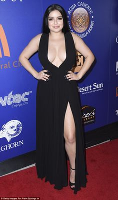 In the spotlight: Ariel Winter, attended the closing night of the Palm Springs International Film Festival Sunday in a daringly plunging black dress slit to the thigh Ariel Winter Hot, Arial Winter, Vrod Harley, Beautiful Christina, Jennie Lisa, Most Beautiful Indian Actress, Beauty Full Girl, Selena, Hot Girls