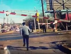 """""""Miracle on Market Street"""":  Good Samaritans whisk woman, 89, from path of oncoming train.  It sounds cliché, but they did it!"""
