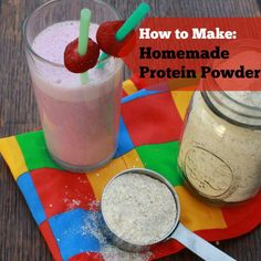 3-ingredients including budget-friendly protein source + surprising thickener: How to Make Homemade Protein Powder