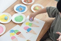 Fruit Crafts, Diy And Crafts, Plastic Cutting Board, Ice Cream, Children, School, No Churn Ice Cream, Young Children, Kids